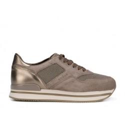 hogan sneakers Sneakers H222ELIUM - NUBUCK ET TOILE - BEIGE