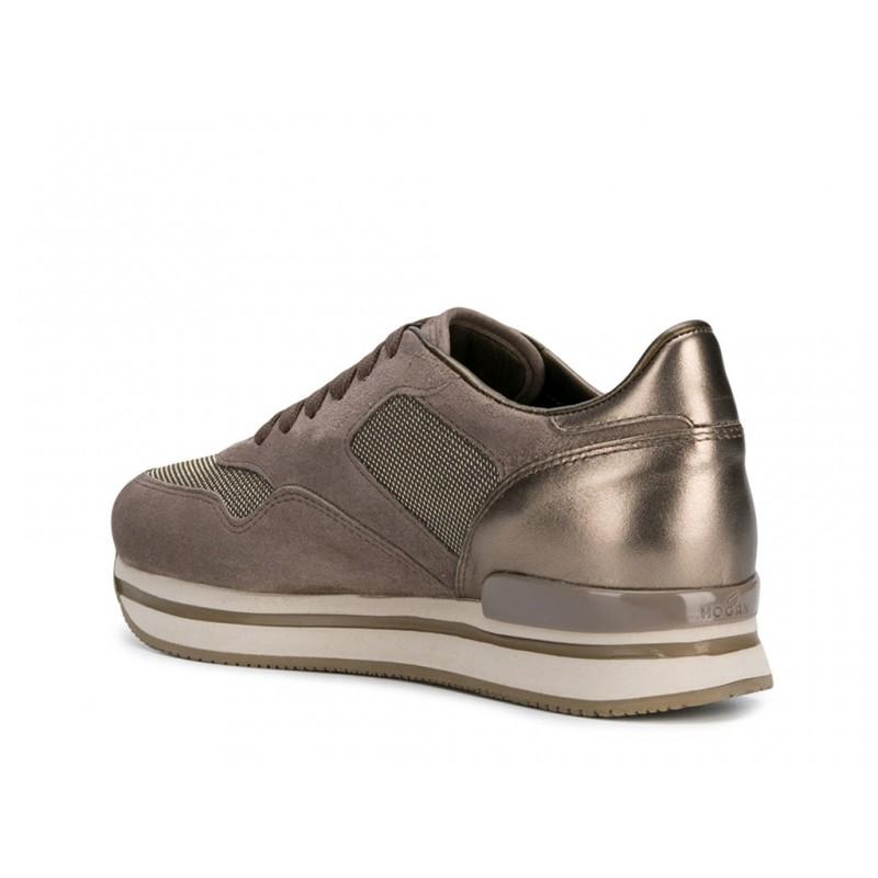hogan nouveautés sneakers Sneakers H222ELIUM - NUBUCK ET TOILE - BEIGE