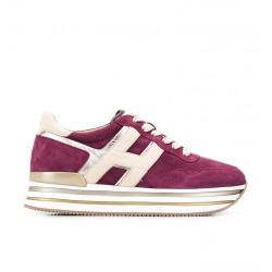 hogan sneakers Sneakers H222ELIUM - NUBUCK - CERISE