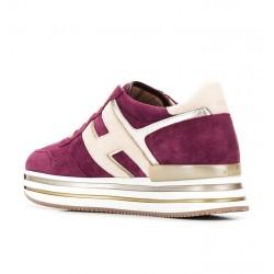 hogan nouveautés sneakers Sneakers H222ELIUM - NUBUCK - CERISE
