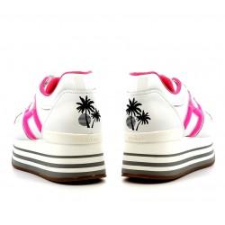 hogan promotions sneakers Sneakers maxi H222ELIUM DOUBLE - CUIR - BLANC ET R