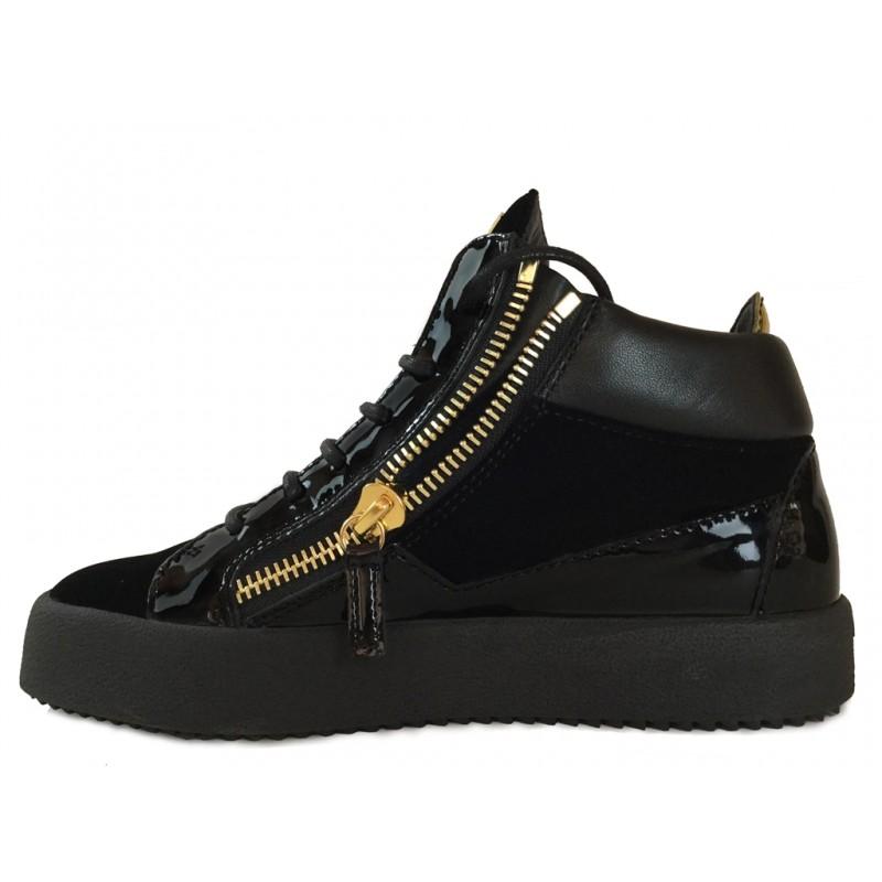 giuseppe zanotti sneakers Sneakers KrissGZ F SNEAK SLE NOIRE - VELOURS E
