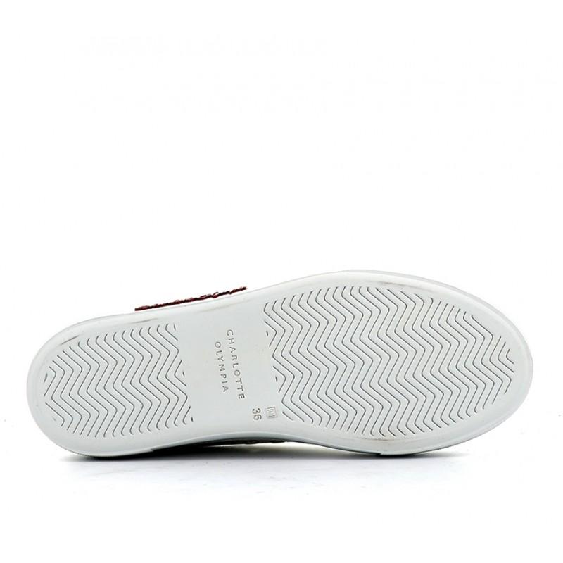 charlotte olympia sneakers SneakersCO SNEAKER MULE - CUIR - BLANC/R