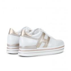 hogan nouveautés sneakers Sneakers H222ELIUM 3 - CUIR IRISÉ - ARGENT ET