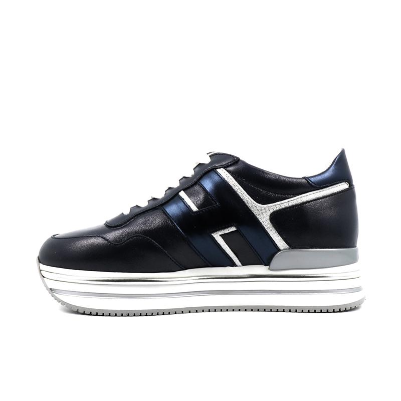 hogan nouveautés sneakers Sneakers H222ELIUM 3 - CUIR IRISÉ - BLEU