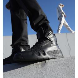 giuseppe zanotti nouveautés sneakers Sneakers TalonGZ H TALON - CUIR ET TOILE - NOI