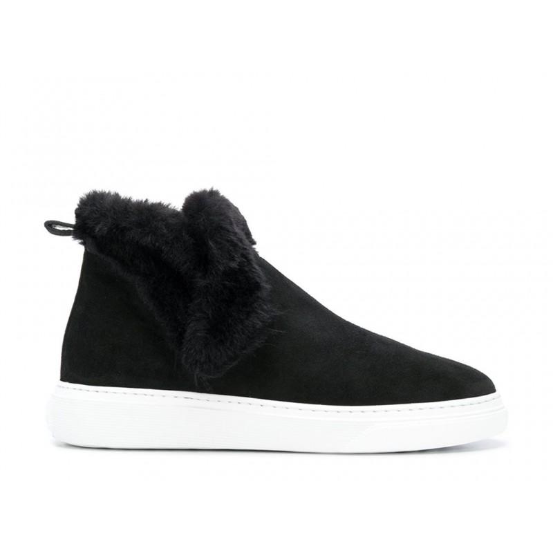 hogan promotions sneakers SneakersHOFOU - NUBUCK FOURRÉ - NOIR