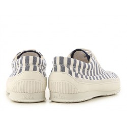 hogan promotions sneakers SneakersHOGAN F - TOILE RAYÉE - BLEUE ET