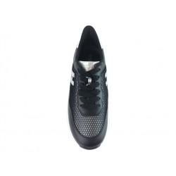 hogan promotions sneakers SneakersHOLLO X F - CUIR ET TOILE - NOIR