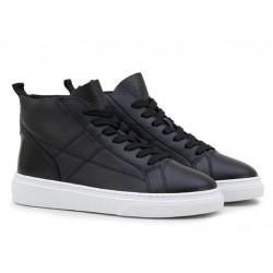 hogan promotions sneakers SneakersHOGLORY - CUIR FOURRÉ - NOIR
