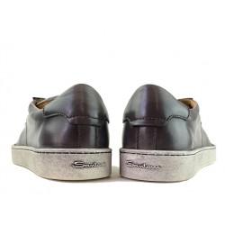 santoni promotions sneakers SneakersNEW GLORIA 4 - CUIR PATINÉ - GRI