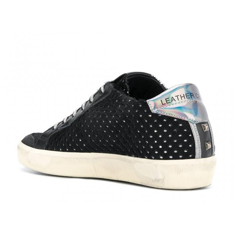 leather crown sneakers SneakersLC SNEAK CLOU - CUIR, NUBUCK ET