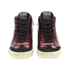 leather crown promotions sneakers SneakersLC SNEAK HAUT - CUIR ET NUBUCK -