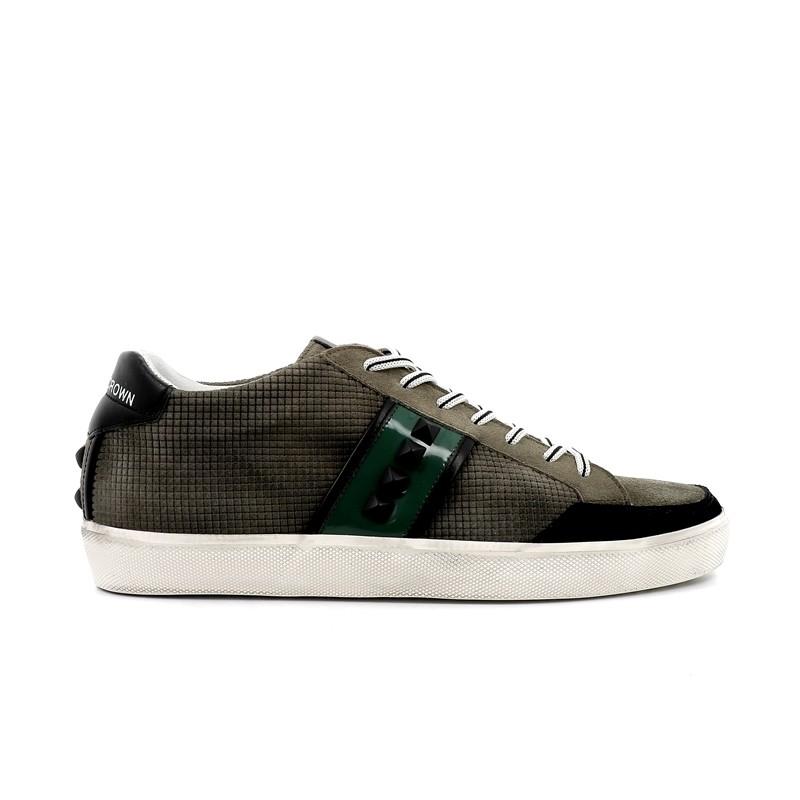 leather crown sneakers SneakersLCM SNEAK BAS - NUBUCK ET VERNIS