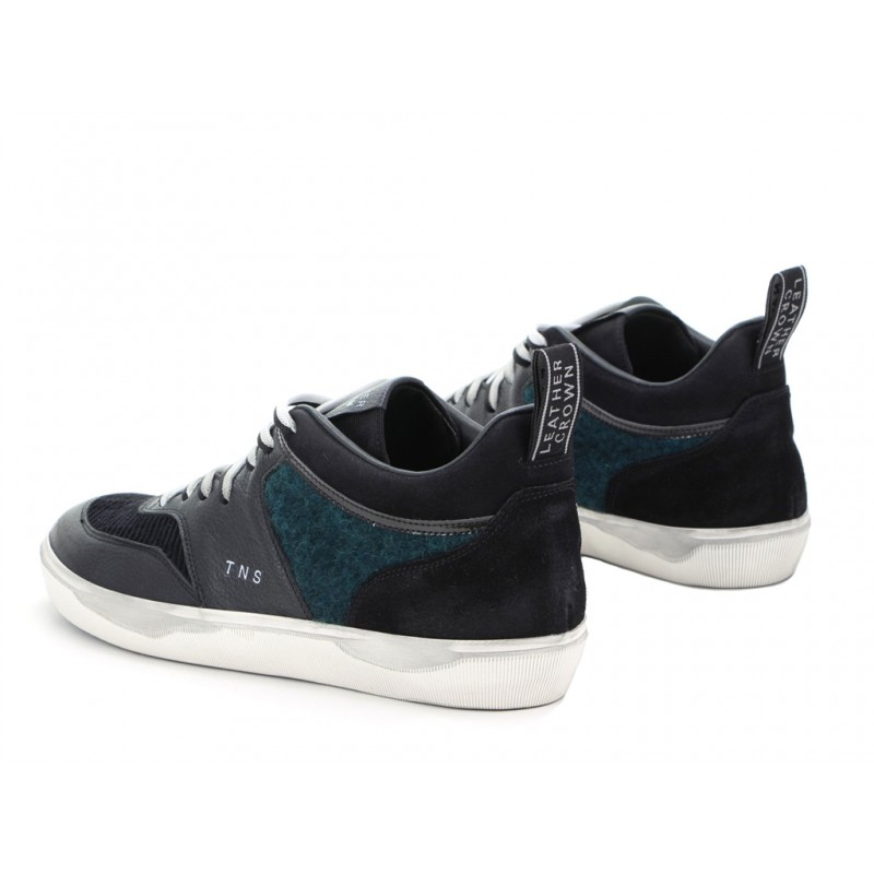 leather crown sneakers SneakersLCM SNEAKER BAS - CUIR ET VELOUR