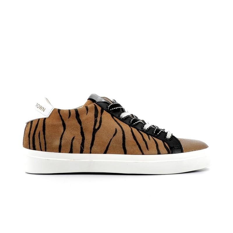 leather crown sneakers SneakersLCF SNEAKER BAS - NUBUCK IMPRIMÉ