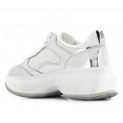 hogan nouveautés sneakers Sneakers MaxiNEW ICONIQ - CUIR MIROIR - ARGEN