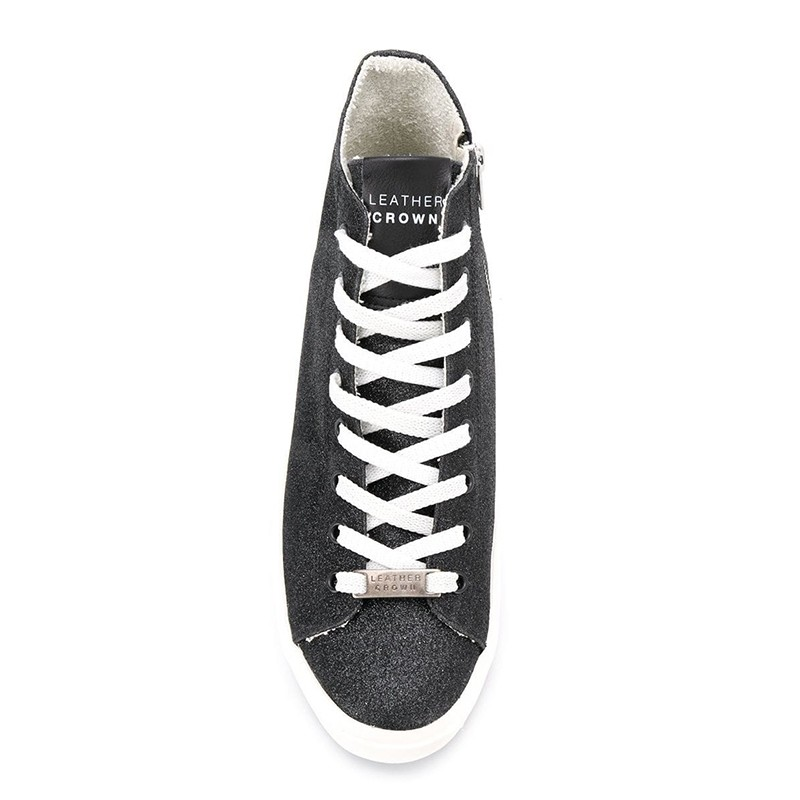 leather crown promotions sneakers SneakersLCF SNEAKER HAUT - GLITTERS - NO