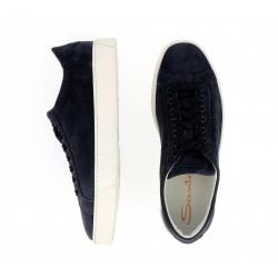 santoni promotions sneakers SneakersNEW GLORIA 5 - NUBUCK - MARINE