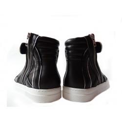 pierre hardy sneakers Sneakers 112PHH 112 - CUIR - NOIR ET ARGENT