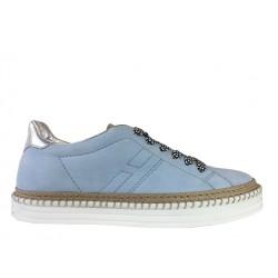 hogan sneakers SneakersREBEL CORD LACET - NUBUCK - BLEU