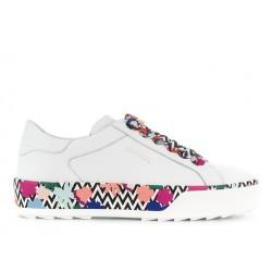 hogan sneakers SneakersREBEL DOUBLE - CUIR - BLANC IMPR