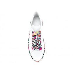 hogan promotions sneakers SneakersREBEL DOUBLE - CUIR - BLANC IMPR