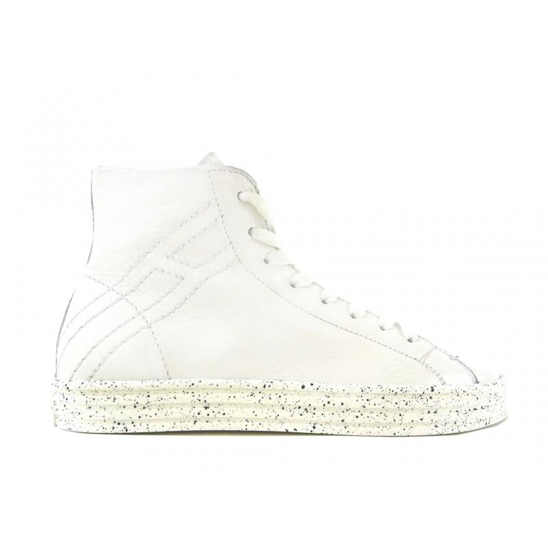 hogan promotions sneakers SneakersREBEL STAR H - CUIR - BLANC