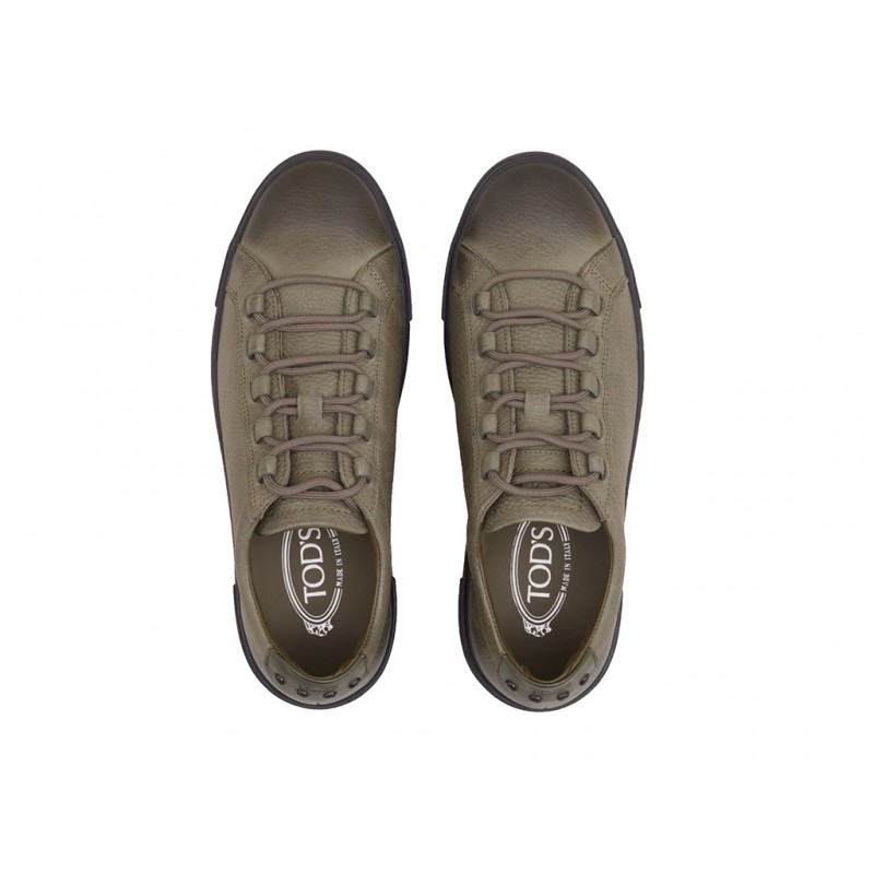 tod's promotions sneakers SneakersSPORT GILI - CUIR GRAINÉ - KAKI