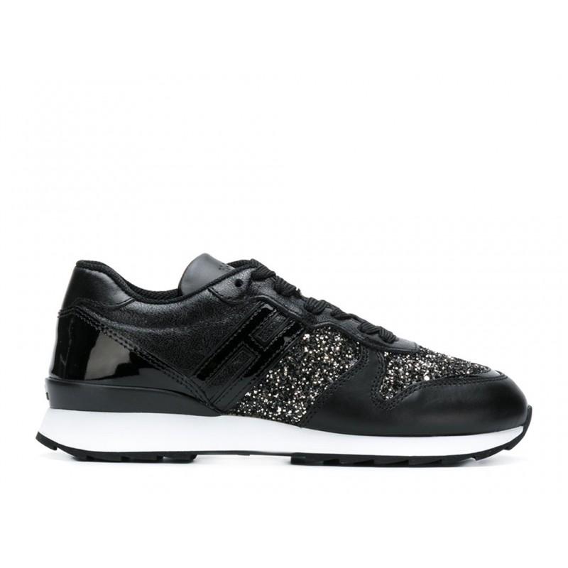 hogan promotions sneakers SneakersREBEL FLY FHIV - CUIR ET PAILLET