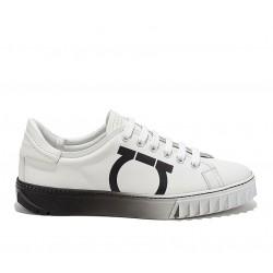 salvatore ferragamo promotions sneakers SneakersSF SNEAKER SHARK - CUIR - BLANC