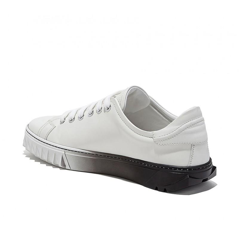 salvatore ferragamo sneakers SneakersSF SNEAKER SHARK - CUIR - BLANC