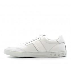 tod's nouveautés sneakers SneakersSPORT T 2 - CUIR ET TOILE - BLAN