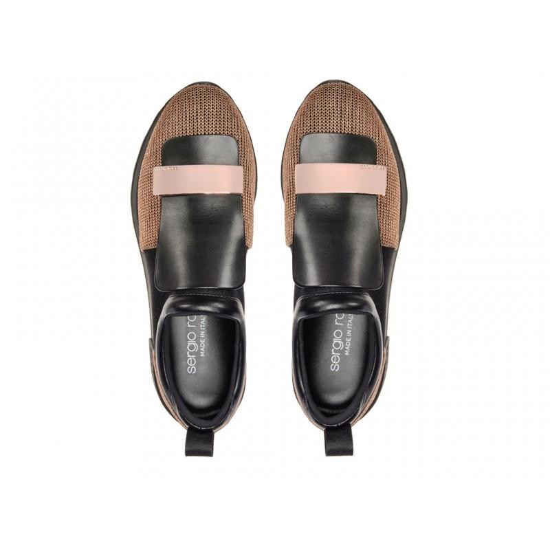sergio rossi promotions sneakers Sneakers SR1SR RUNNING - GLITTER ET TISSUS -
