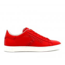 tod's promotions sneakers SneakersTIMA T - CUIR - ROUGE