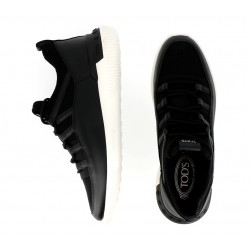tod's promotions sneakers SneakersTODRUN GILI E - CUIR ET TOILE -