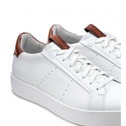 santoni nouveautés sneakers Sneakers WideWIDE - CUIR - BLANC ET DÉTAILS G