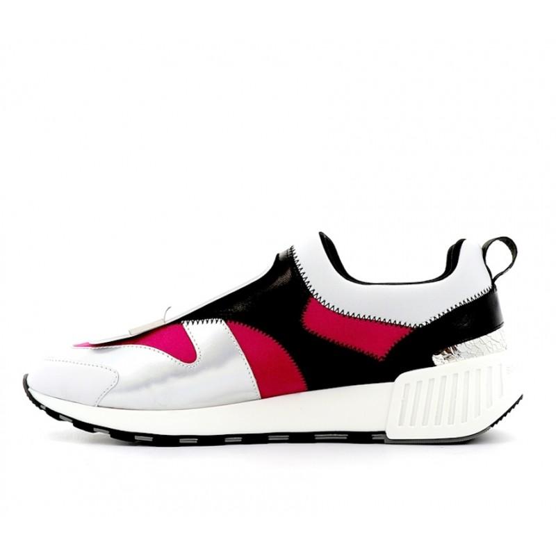 sergio rossi sneakers Sneakers SR1SR RUNNING2 - CUIR ET NÉOPRÈNE -