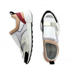 sergio rossi promotions sneakers Sneakers SR1SR RUNNING2 - CUIR - NOIR, BEIGE
