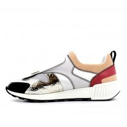 sergio rossi sneakers Sneakers SR1SR RUNNING2 - CUIR - NOIR, BEIGE