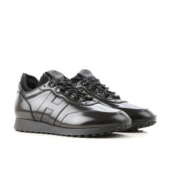hogan promotions sneakers SneakersTIME MONT - CUIR GLACÉ - NOIR