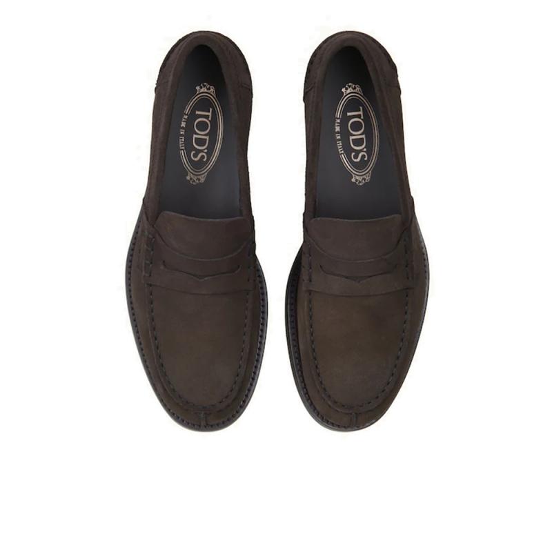 tod's mocassins et slippers MocassinsTODCLASSIC - NUBUCK - MARRON