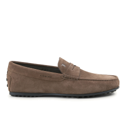 tod's mocassins et slippers Mocassins City GomminoBROKEN - NUBUCK - NOISETTE