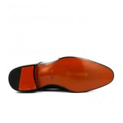 santoni nouveautés boots et bottillons Double-boucle CarterCARTO - CUIR PATINÉ - ANTHRACITE
