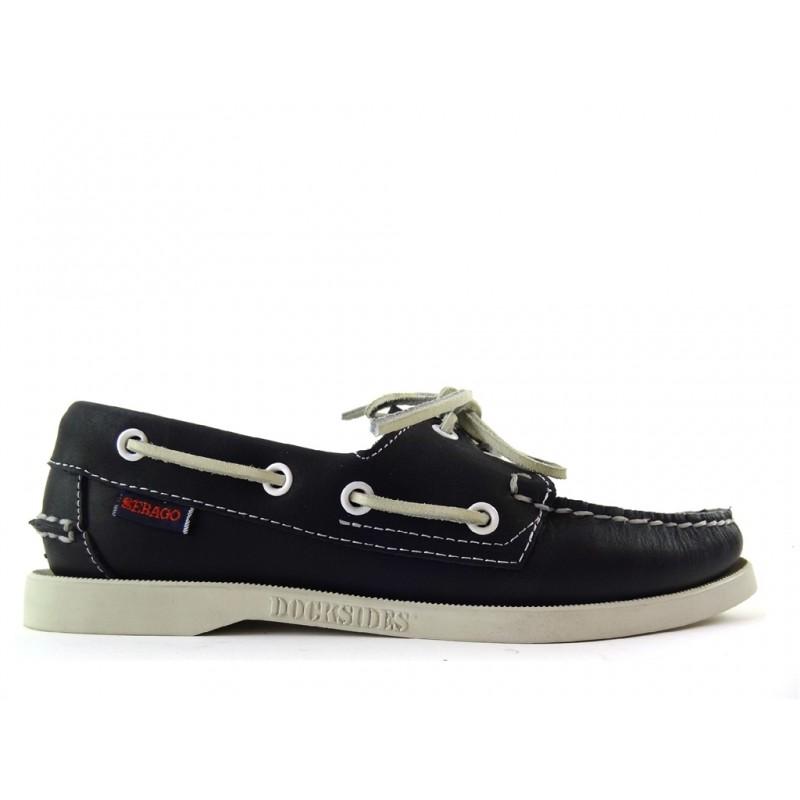 sebago promotions chaussures bateau dock fem nubDOCK FEM NUB - CUIR - BLEU