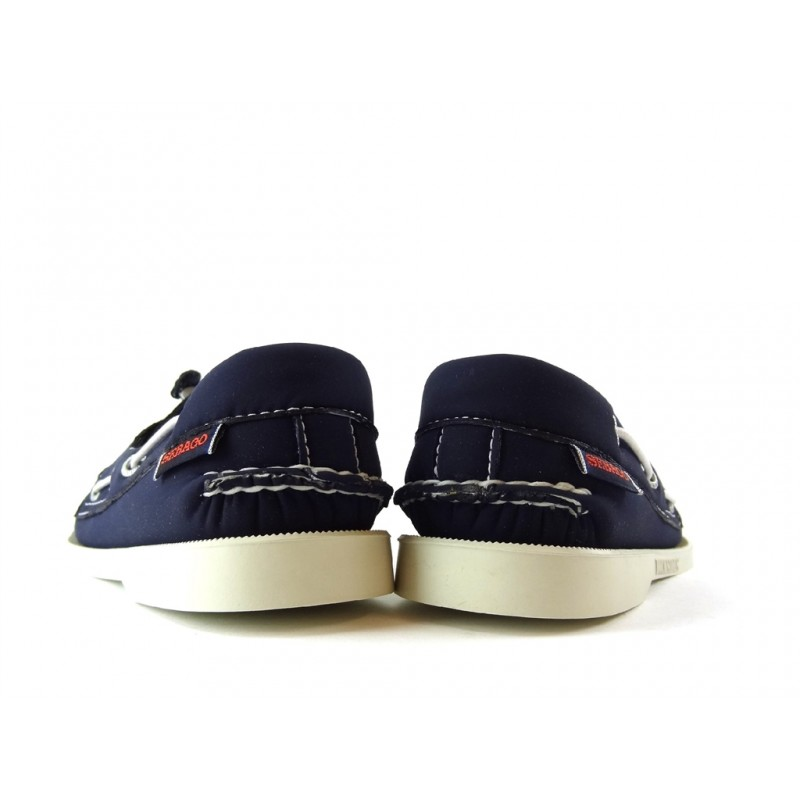 sebago chaussures bateau DocksidesDOCK FEM NUB - CUIR - BLEU