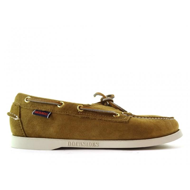 sebago promotions chaussures bateau dock fem nubDOCK FEM NUB - NUBUCK - SABLE