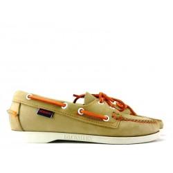 sebago promotions chaussures bateau DocksidesDOCK FEM NUB - NUBUCK - TAUPE