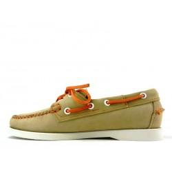 sebago chaussures bateau DocksidesDOCK FEM NUB - NUBUCK - TAUPE