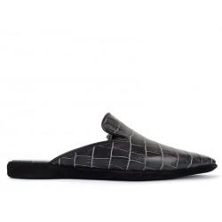 santoni promotions chaussures d'intérieur mulinoMULINO - CUIR IMPRIMÉ CROCODILE